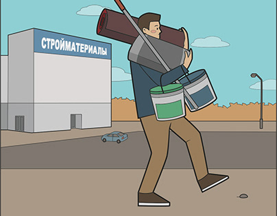Illustrations for animation videos for МТС Bank