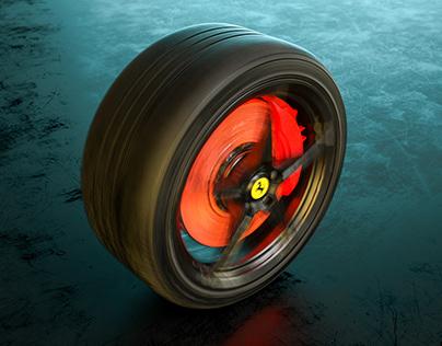 Ferrari Italia Wheel - Full CGI