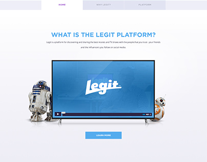 Legit Platform website