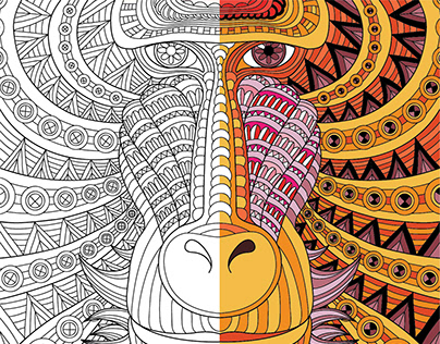 WILD AFRICA. Coloring book