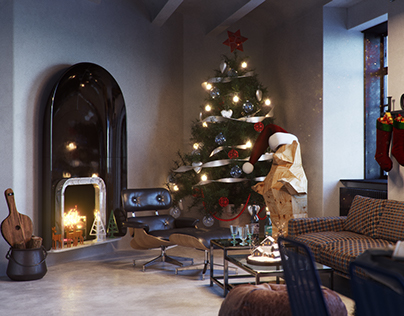 Christmas Apartment - Render