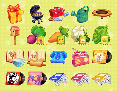 Li'l Woodzeez mobile game icons