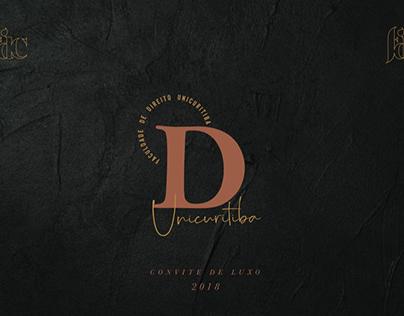 Convite de formatura // Direito FDC