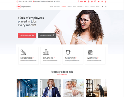 Candidate Page - Employment WordPress Theme