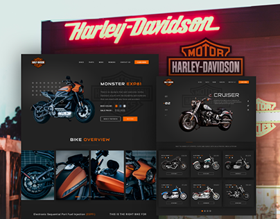 Harley Davidson (Website Redesign Concept)