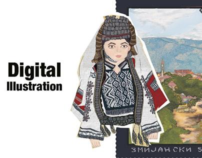 Digital Illustration on Bosnia and Herzegovina