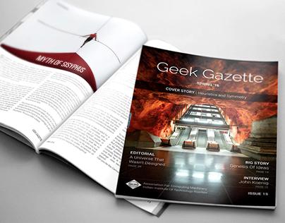 Geek Gazette Spring '16   Issue 15 - Magazine Design