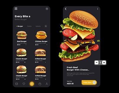 Food App - (Burger UI UX)