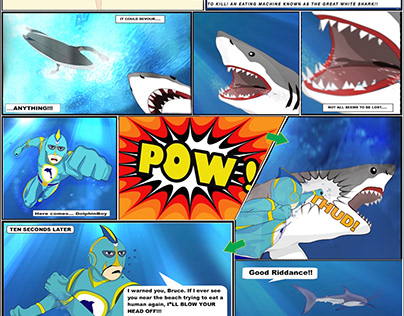 DolphinBoy: Stopping Jaws (One-page Comic)