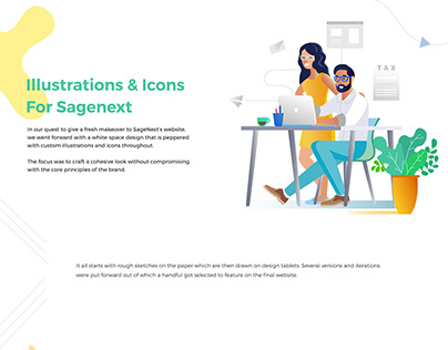 Illustrations For A Cloud SaaS - SimplePlan Media