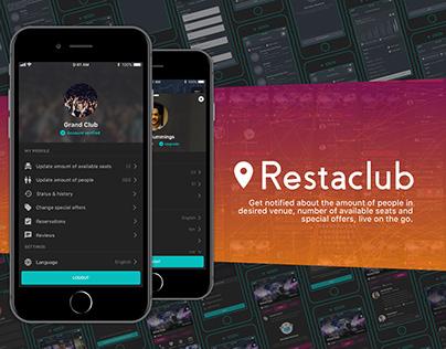Restaclub [UX case study & UI presentation]