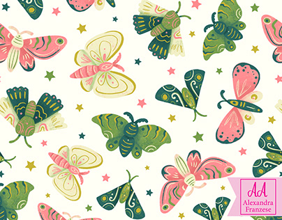 Decorative Moth Pattern
