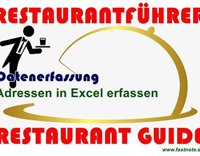 Restaurantführer Restaurant Guide Datenerfassung
