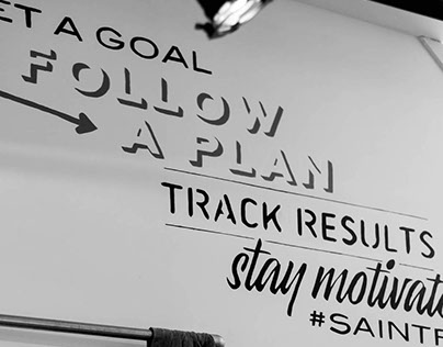 Set a goal. Follow a plan. Mural for Saintfit The Hague