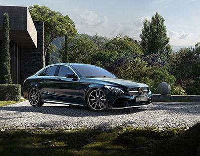 Mercedes-Benz C-Class | Full CG Image (car+location)