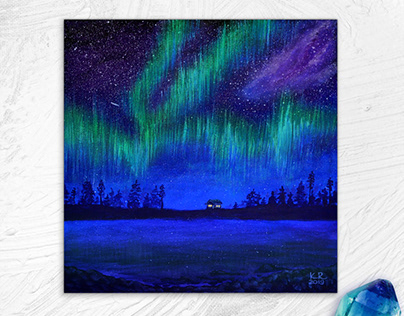 Home on the northern light shore