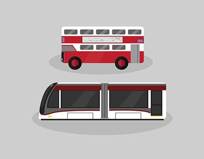 Minimalist Edinburgh Transport