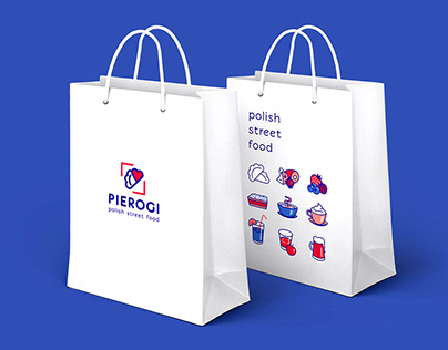pierogi - polish street food branding design