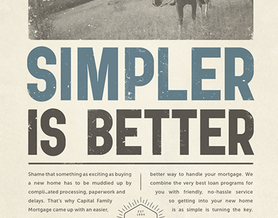 Capital Family Mortgage / Print Campaign
