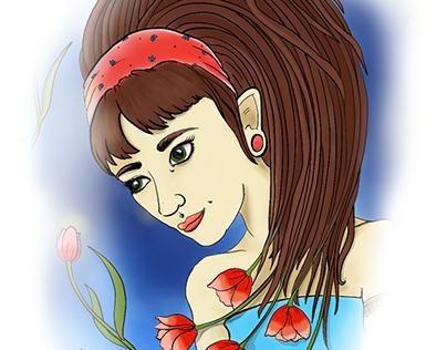 artist card illustration