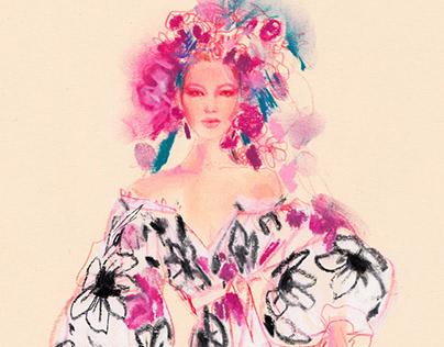 Studies of Romantic dresses-Spring in Bloom