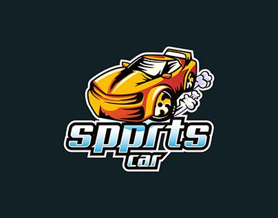 Sports car logo vector design concept