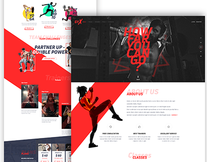 GYX - Fitness landing page exploration