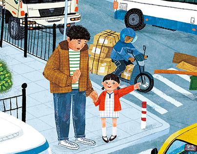 童书插图-《黑勺》