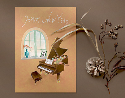 Happy New Year 2021 -Post Card-