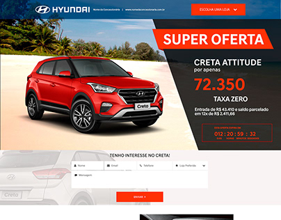 Landing page for automotive dealer