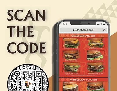 QR Code Restaurant Menu Advertisement