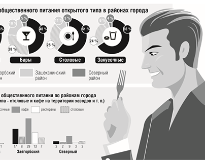 Infographics 2011–2014 of the newspaper «Rech»