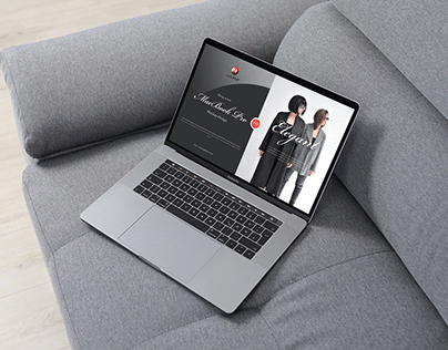 Free MacBook Pro Placing on Sofa Mockup