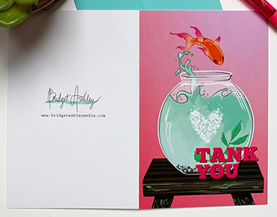 Thank You Greeting Cards - Spot UV