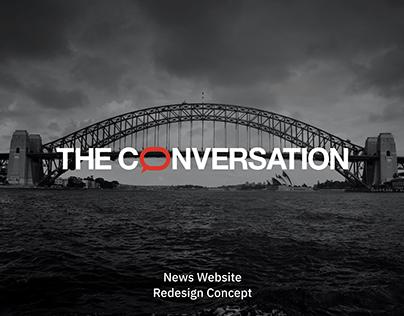 The Conversation — news website redesign concept