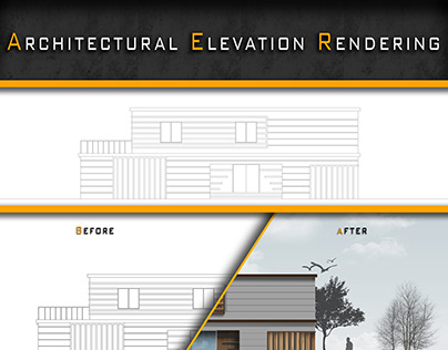 Architectural Elevation Rendering