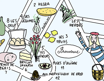 Map of Farmer's Market in Paris - Marche d'Aligre