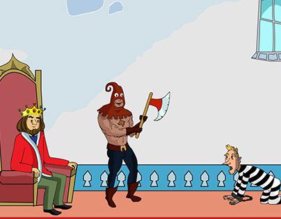 2D Animation ( king And Executor )