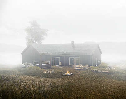 Wood cabin in Norway.