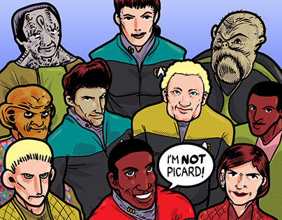 Star Trek DS9 / Justice League #1 Mashup