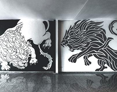 Lion's Den Wall Mural