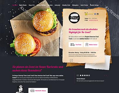 Pretty Burger Food Truck - Website Design