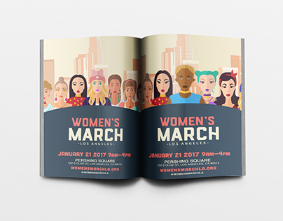 WOMEN'S MARCH LOS ANGELES FLYER DESIGN
