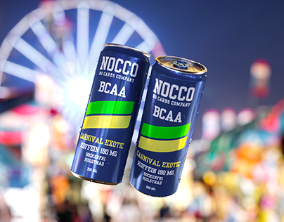 Nocco BCAA Carnival Exotic 3D render