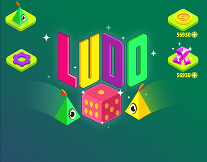LUDO GAME ART (ultra casual game art style)