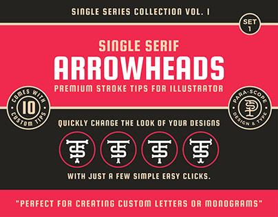 Single Serif Arrowheads Set 1 - Stroke tips