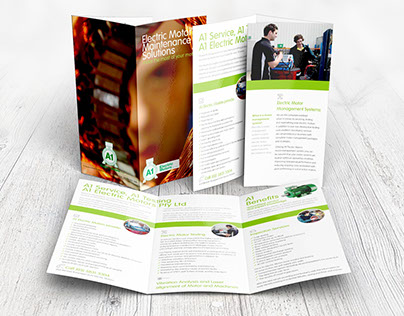 A1 Electric Motors - 6 page DL Brochure Design