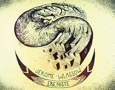 carte de visite Jerôme Wlassow ébéniste