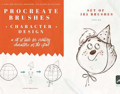 Character Design Brushes for Procreate