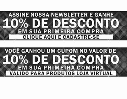 Banner Rodapé Newsletter | Cupom Email Marketing